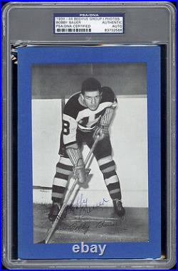1934-44 Beehive Bobby Bauer (Boston Bruins) Autographed/Signed RARE - PSA/DNA