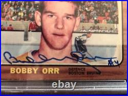 1966 TOPPS Bobby Orr Rookie RC card signed autographed investment opportunity