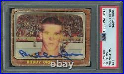 1966 Topps # 35 Bobby Orr SIGNED PSA/DNA 10 Auto RC Rookie Boston Bruins