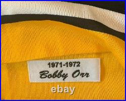1971-72 Bobby Orr Autographed Boston Bruins Jersey Mitchell And Ness XL GNR COA