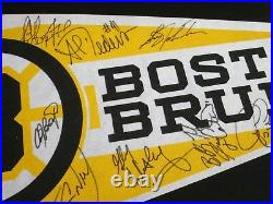 1990 Boston Bruins Autographed Pennant-signed By 17-neely-bourque-oreilly