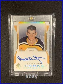 19-20 SP Authentic Bobby Orr Marks Of Distinction Update Auto /25