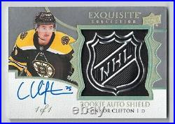 19-20 UD The Cup Exquisite Collection Rookie Auto Shield Connor Clifton 1/1