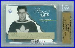 2002-03 Bap Tiny Thompson 1/1 Auto Hof Paper Cuts Ultimate 3rd Edition Bruins
