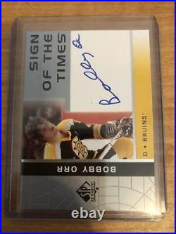 2002-03 SP Authentic Sign Of The Times Bobby Orr On Card Auto Autograph Bruins