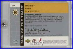 2002 SP Authentic Bobby Orr Sign of the Times Auto
