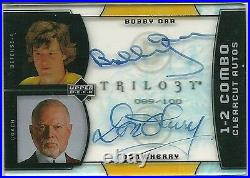 2007 07-08 UD Trilogy 1-2 Combo Clearcut Autos BOBBY ORR / DON CHERRY /100
