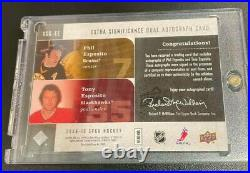 2009-10 SP Game Used Extra Significance Tony & Phil Esposito Dual Auto /25