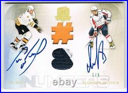 2009-10 The Cup Honorable Numbers Dual Auto Patch Alex Ovechkin / Cam Neely 1/8