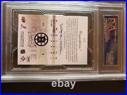 2009 NHL Upperdeck the Cup Brad Marchand rookie card. Graded, signed. 3/63