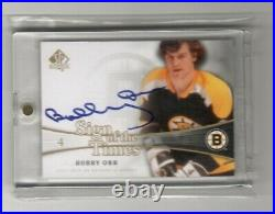 2011-12 SP Authentic Sign of the Times Bobby Orr Auto Boston Bruins HOF SOT-BO