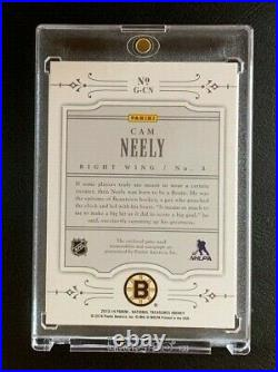 2013-14 Panini National Treasures CAM NEELY NHL Gear Jersey Stick AUTO SP BRUINS