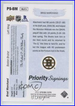 2015 Upper Deck Spring Expo Priority Signings Young Guns /15 Brad Marchand Auto
