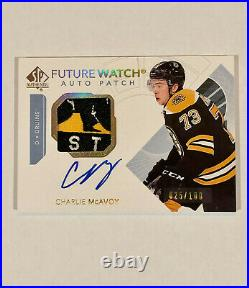 2017-18 SP Authentic Charlie McAvoy Future Watch Auto Patch #25/100