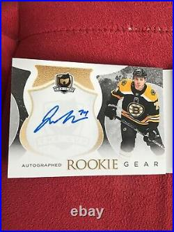2017-18 The Cup Jake DeBrusk Rookie Gear Booklet Dual Patch Auto 17/18 17-18