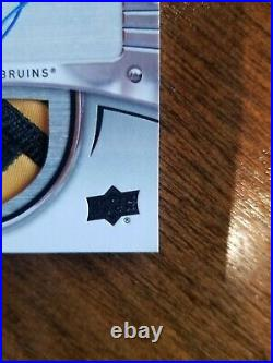 2017-18 UD Charlie McAvoy The Cup RC Auto Crosby Tribute 10/10 Sick Patch