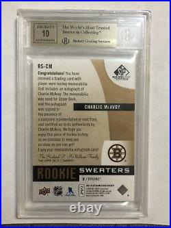 2017 SP Game Used Inked Sweaters /49 Charlie McAvoy ONLY TRUE GEM 9.5/10 AUTO