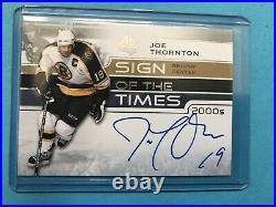 2019-20 SP Authentic Sign Of The Times 2000s Joe Thornton RARE