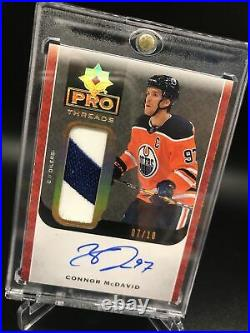 2019-20 Ultimate Pro Threads Connor McDavid Game Used Hard Signed Auto #7/10