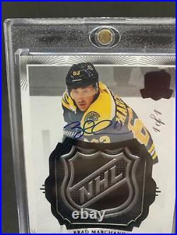 2019-20 Upper Deck The Cup Brad Marchand 1 Of 1 Black Shield Autograph 1/1 #5
