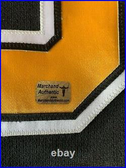 Autographed Brad Marchand Authentic Bruins Reebok Center Ice Game Jersey (YSMS)