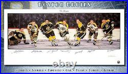 BOSTON BRUINS NHL ORIGINAL SIX LIMITED EDITION AUTOGRAPHED LITHO WithCOA BOBBY ORR