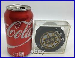 Bobby Orr #4 Autograph Signed Boston Bruins NHL Official Inglas Hockey Puck Case