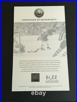 Bobby Orr Autographed 16 X 20 Action Photo Great North Road America C. O. A