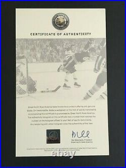 Bobby Orr Autographed 16 X 20 Sipping Out Of The Stanley Cup Photo (gnr C. O. A.)