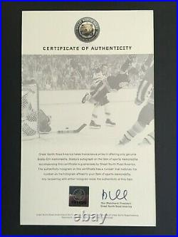Bobby Orr Autographed 16 X 20 The Goal Photo (great North Road C. O. A)