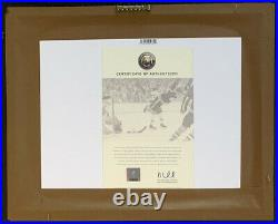 Bobby Orr Boston Bruins Autographed 1970 Stanley Cup Dive Framed 8x10 Photo GNR