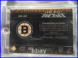 Bobby Orr Gold Auto 2009 UD Black Game Night Ticket 28/35 #GN-BO