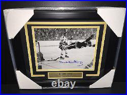 Bobby Orr The Goal Autographed 8x10 Framed Photo Boston Bruins 1970 Stanley Cup