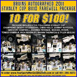 Boston Bruins Autographed 2011 Stanley Cup 8x10s Farewell Package 10 for $100