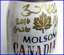 Brad Marchand Patrice Bergeron Signed Autographed Canada World Cup Molson Bottle