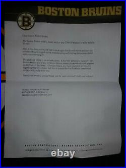 CAM NEELY BOSTON BRUINS SIGNED CCM JERSEY with Letter from Bruins