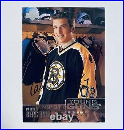 PATRICE BERGERON Boston Bruins 2003 UD Young Guns AUTO Rookie Cards Hand Signed