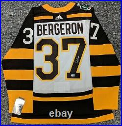 Patrice Bergeron Boston Bruins Signed Autographed 2019 Winter Classic Jersey